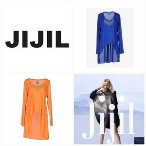 Jijil High Low Chain Accent Top